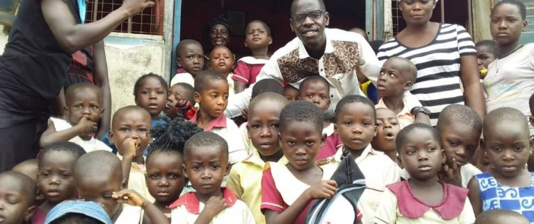 IT Expert donates to creche, clinic at Saltpond